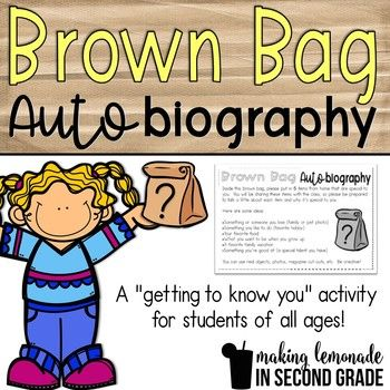 This Brown Bag Autobiography is designed as a simple getting-to-know-you activity for students of all ages. I usually do this at the beginning of the school year so my students can get to know their classmates and practice speaking in front of a small group.