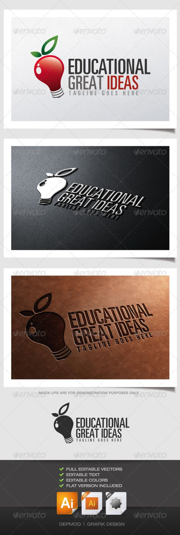 Apple Bulb Logo