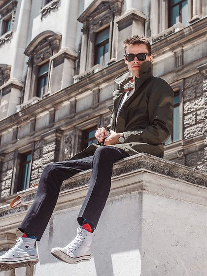 Get this look: http://lb.nu/look/8422913  More looks by Anton Dee: http://lb.nu/antondee  Items in this look:  Zara Trench Coat, Ray Ban Sunglasses, Topman Trousers   #elegant #street #ootd #outfit #menswear