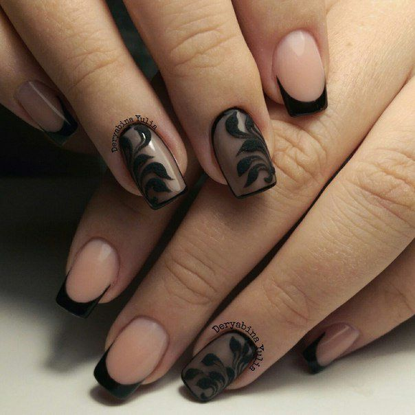 French Design Nail Art Gallery: 25+ Best Ideas About Black French Manicure On Pinterest