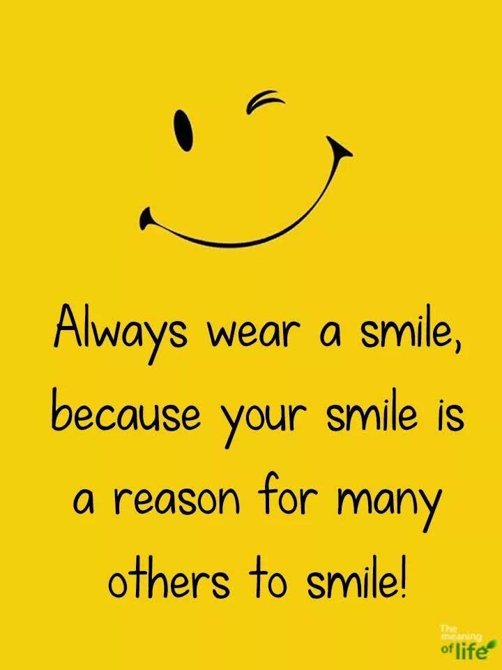 always smile and be happy | Always smile quotes, Happy ...