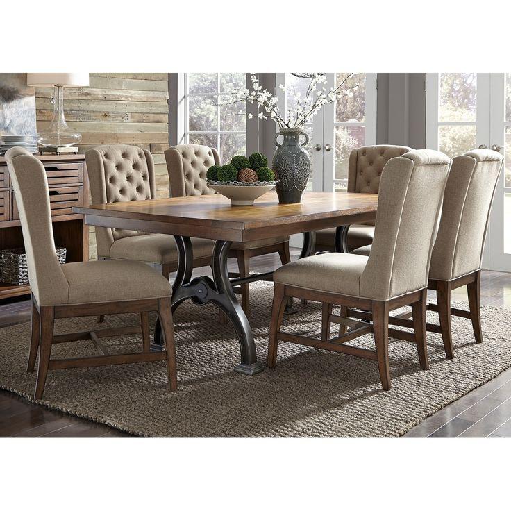 Liberty Arlington House Cobblestone 7-piece Trestle Table Set