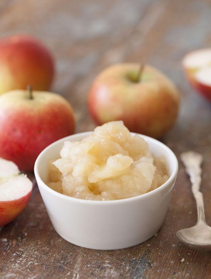 Äppelkompott – recept på gott och enkelt äppelmos med bitar.
