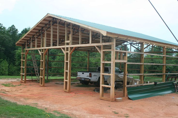 17 best images about pole barn on pinterest workshop for Pole shop plans