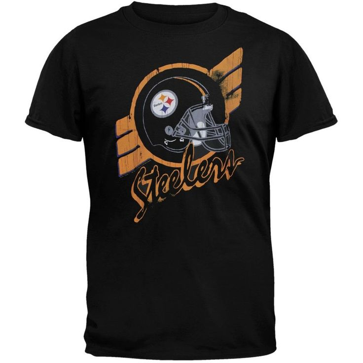 Pittsburgh Steelers - Helmet Crackle Soft T-Shirt