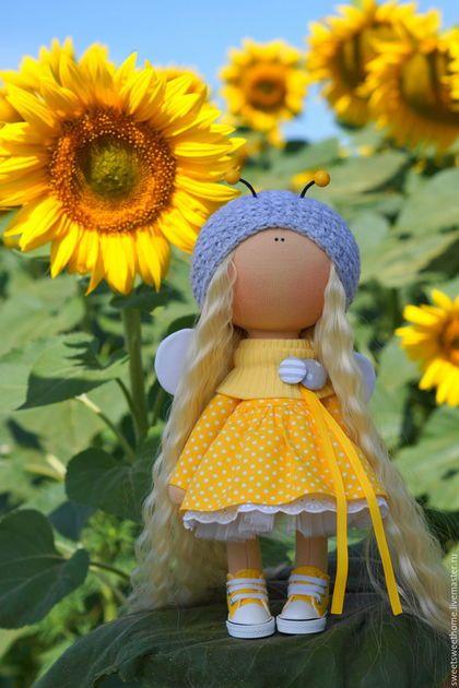 Коллекционные куклы ручной работы. Пчелка. Irina Berezhnaya. Интернет-магазин Ярмарка Мастеров. Пчела, кукла текстильная, куколки, фатин