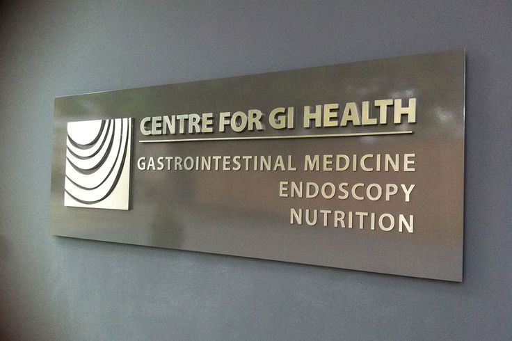 Signage design and manufacture - GI Health