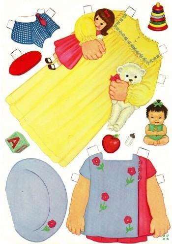 Бумажная кукла. Оформление уголка в в детском саду