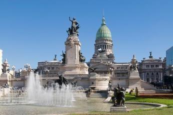 Nationalkongressen i Buenos Aires ses på rundrejse Sydamerika