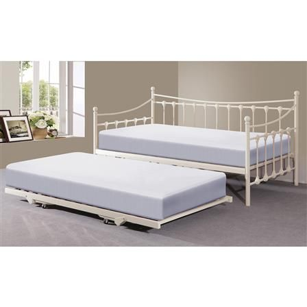 Memphis Single Day Bed with Trundle, Ivory