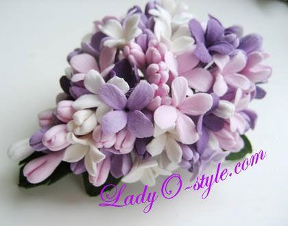 Polymer Lilac Clay Brooch