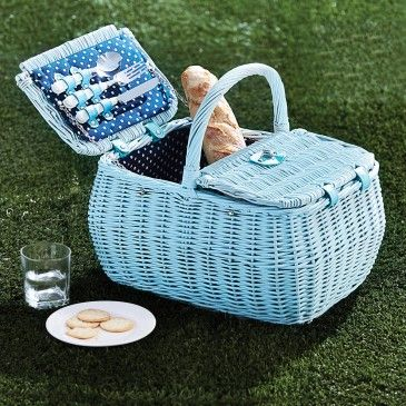 HAMPER PICNIC BASKET 4 PERSON  - BLUE/ NAVY Morgan & Finch