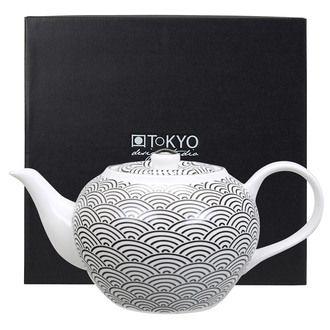 Th�i�re en porcelaine motifs japonais 1.2L 14x19cm NIPPON