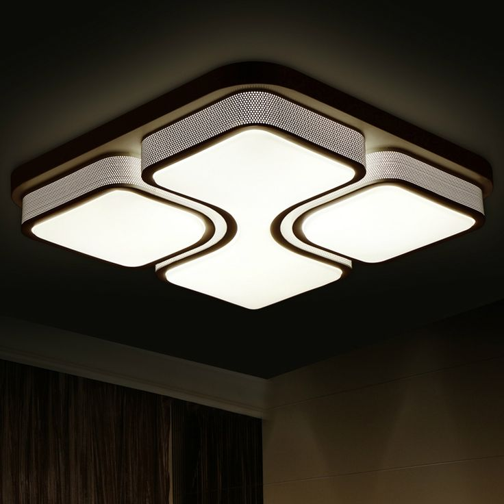 99.39$  Buy here - http://alizz8.worldwells.pw/go.php?t=32675042330 - Modern Ceiling Lights For Home Lighting Led Ceiling Lamp Square Luminaire Light Fixtures Acrylic Lampshade Lustre Avize Lamparas