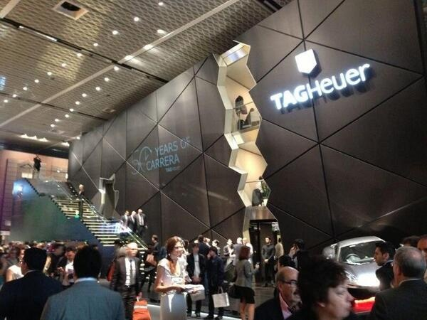 The TAG Heuer booth at Basel World
