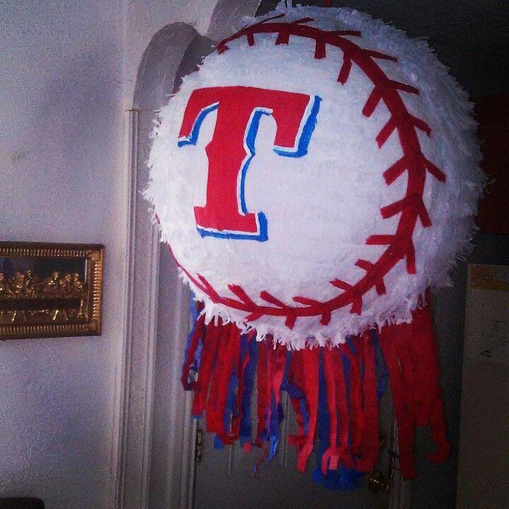 Texas Rangers Baseball Pi 241 Ata Pinatas Pinterest