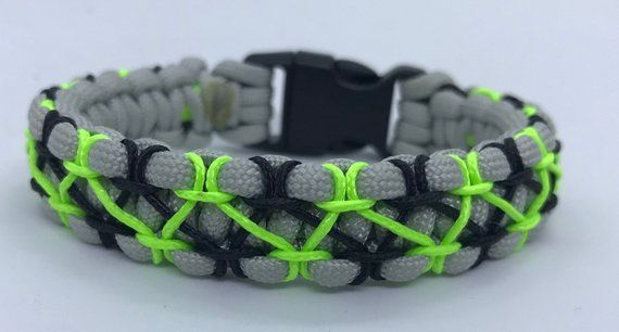 550 Paracord Solomon Bracelet Hand Stitched With Microcord
