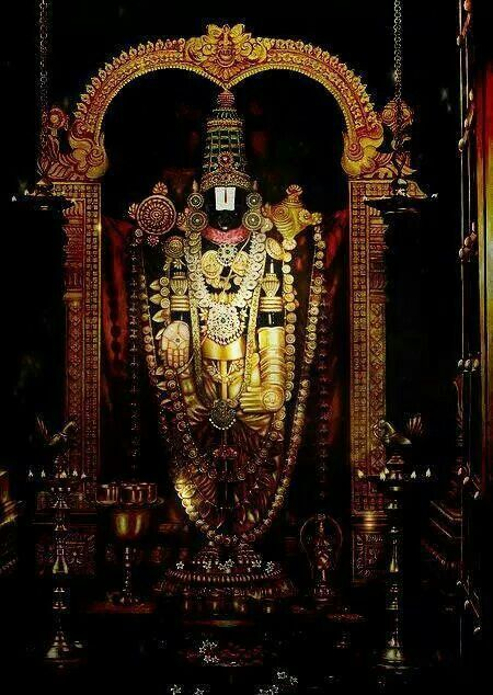 Lord balaji(tirumala) tirupathi World femus temple.. In India