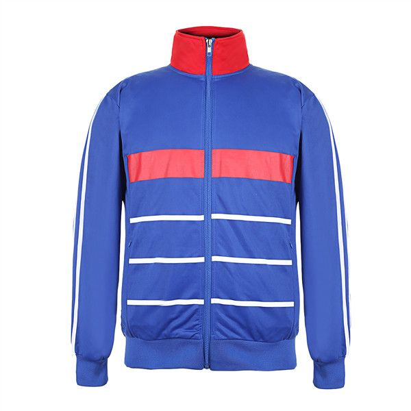 I have just designed a great Men's Big & Tall Striped Full Zip Track... (85 BAM) via Polyvore featuring men's fashion, men's clothing, men's activewear, men's activewear jackets, mens track tops, mens activewear and mens track jackets