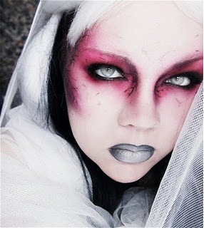 like this. change up the shade contouring and a lot of different ways you can go with this - dark, futuristic, zombie, vampire, glam, etc.