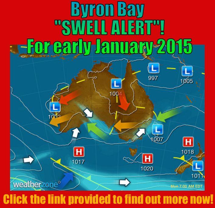 Byron Bay Swell Alert January 2015