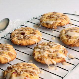 Maple-Glazed Apple Crisp Cookies - The Recipe Rebel