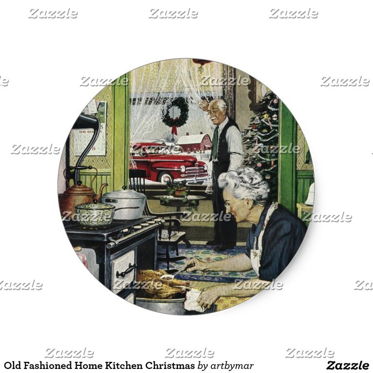 Old Fashioned Home Kitchen Christmas