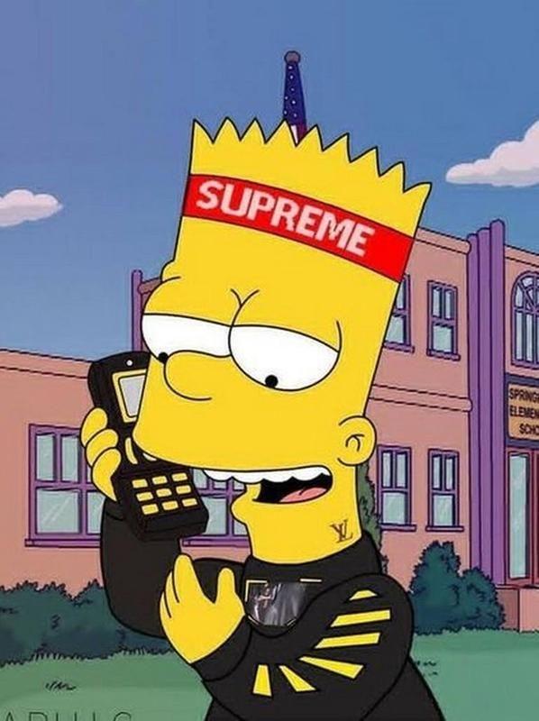 Supreme X Bart Simpson Wallpaper Hd For Android Apk Download Simpson Wallpaper Bart Simpson Wallpaper Bart Simpson Art Iphone supreme wallpaper bart