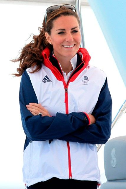 Kate Middleton cheers on sailors at the Olympics