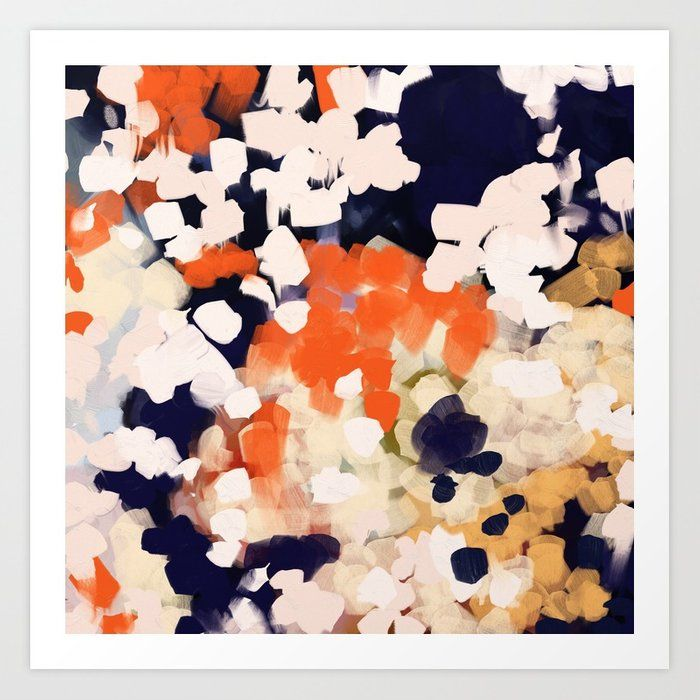 Buy Kina Art Print By Parimastudio Worldwide Shipping Available At Society6 Com Just One Of Millions Of High Qual Bedroom Orange Navy Orange Bedroom Abstract