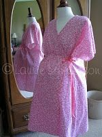 SewNso's Sewing Journal: {pretty in pink} labor and delivery gown pattern
