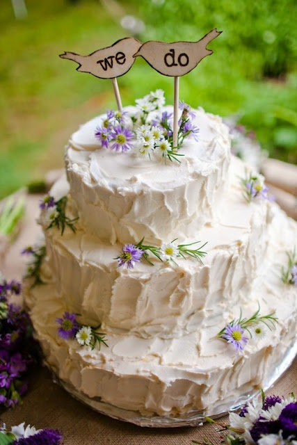 """""""we do"""" wedding cake but with different topper"""