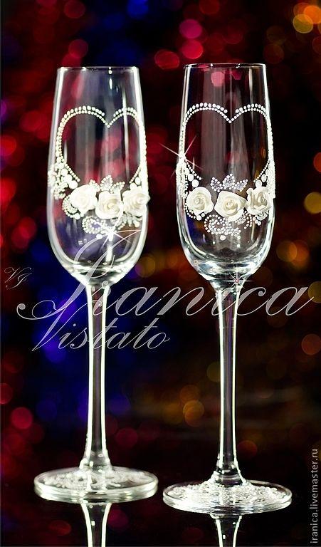"""Купить Свадебные бокалы """"Sposa"""" - свадебные аксессуары, свадебные бокалы, подарок на свадьбу, подарок молодоженам"""
