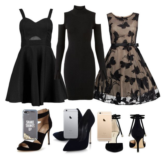 """""""date outfits"""" by alexia-nistor on Polyvore featuring Boohoo, Versus, Carvela, Casadei, Nine West and Kate Spade"""