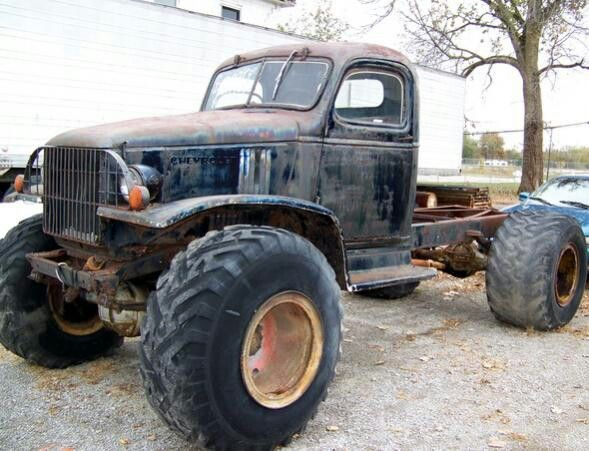 1943 Chevrolet G506 4x4 truck on agricultural tires