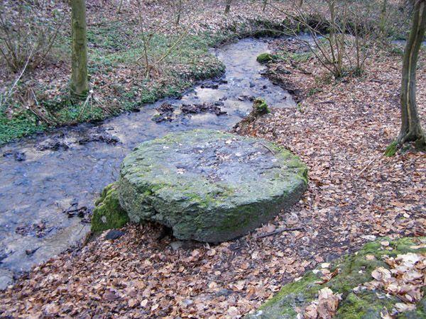 La Table des Sorcières un mégalithe basaltique parfaitement rond de 1mètre 80 de diamètre qui serait d'origine Celtique et un véritable autel druidique.
