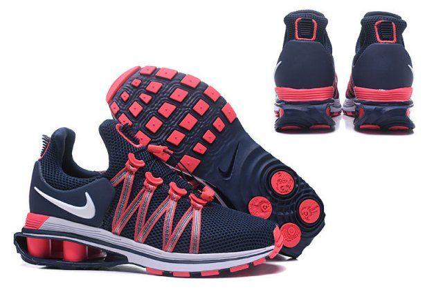 Nike Shox Gravity Navy Blue Pink White Womens Footwear NIKE ... a7d6468e5