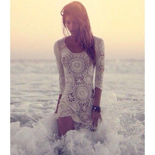 Crochet circles & tan skin