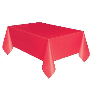 Tablecover Red Plastic