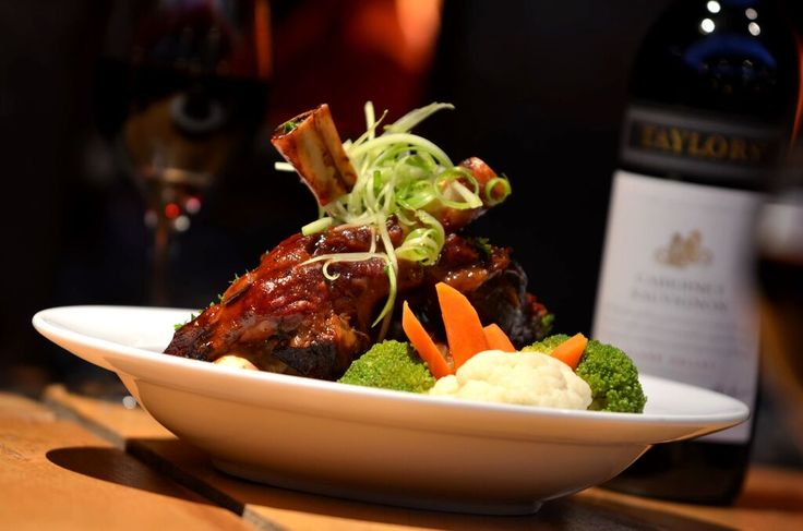 NZ Lamb Shanks with steamed vegetables