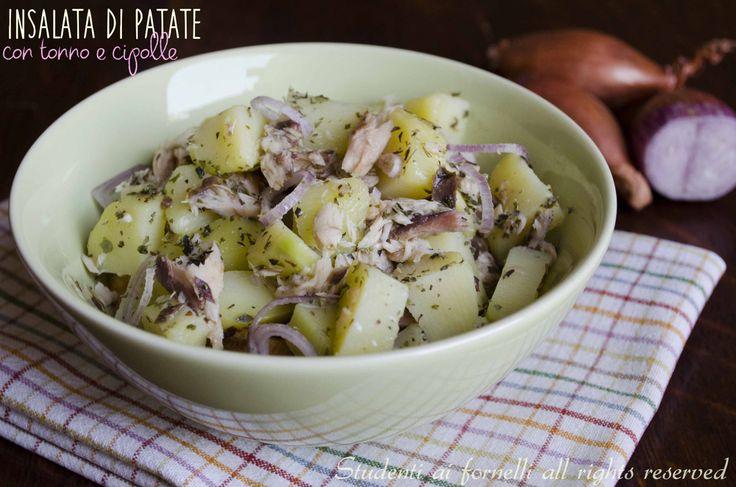 insalata di patate con tonno e cipolle ricetta insalata estive