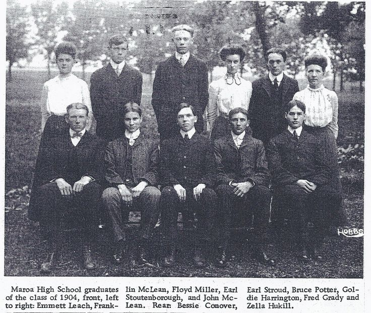 1904 Graduating Class at Maroa High School