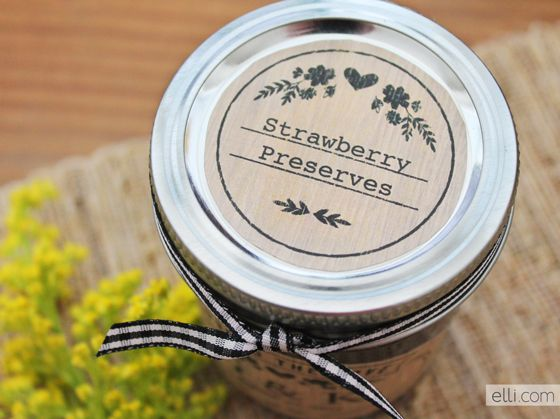Printable jam labels - perfect for homemade gifts!
