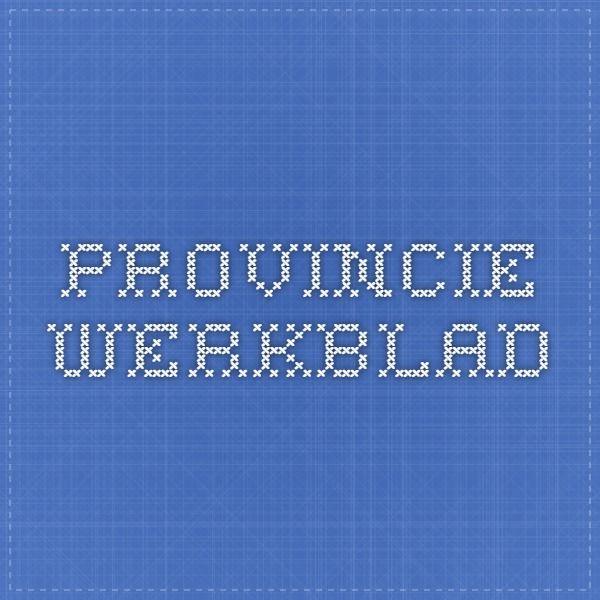 Provincie werkblad