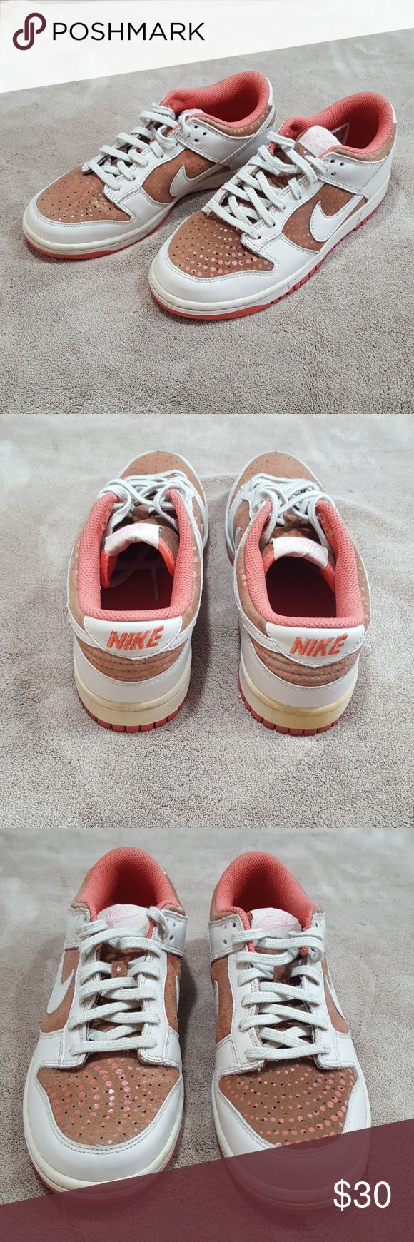 🔥FOOTWEAR CLEARANCE - $15🔥Womens Nike low dunk Gently used women's Nike low dunk sneakers. Size 6.5. Colors: coral and beige. Nike Shoes Sneakers