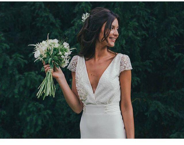 Pretty bride. Coiffure de mariée