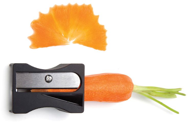 Cómo hacer virutas de zanahoria con un sacapuntas: Carrots Peeler, Karoto Peeler, Gifts Ideas, Unique Gifts, Karoto Carrots, Around The World, Avichai Tadmor, Designboom Shops, Young Design