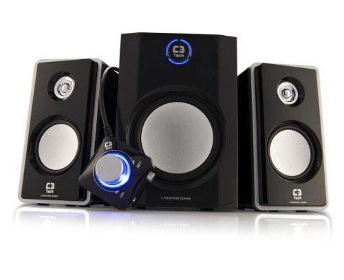 Caixa de som c/ subwoofer speaker 2.1 tcs3150 10w rms c3tech