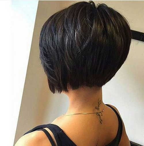 Best Stacked Layered Bob Ideas On Pinterest Stacked Bob Fine - Short hairstyle bob cut
