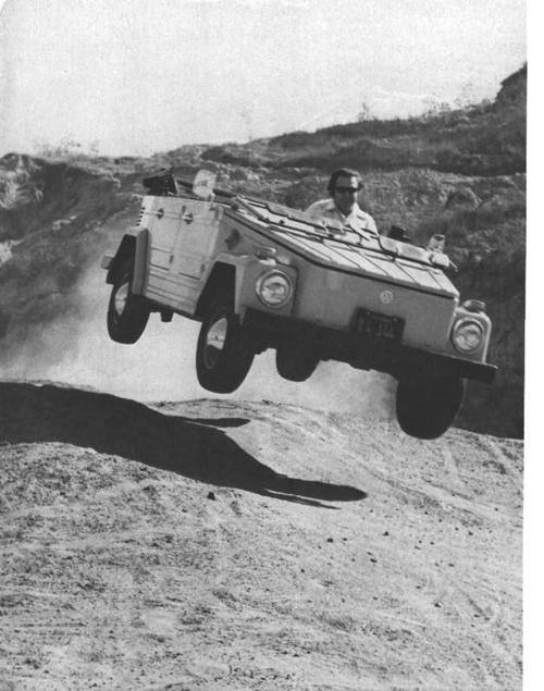 "The Volkswagen Kübelwagen (short for Kübelsitzwagen, meaning ""bucket seat car"")"